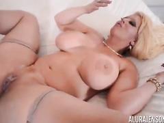 Blond woman Alura Jenson big black dick ir compilation