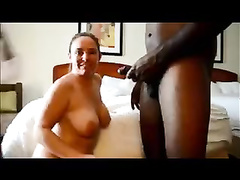 Two Latino wives satisfying their hung black lover