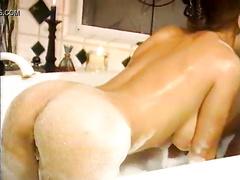 Wet Latina fucks her black bull in the bathroom