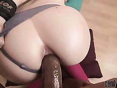 Handcuffed white girlfriend sodomized by a BBC