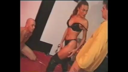 Cuckold bdsm slave watchs his wife fucked hard