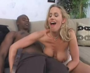 Beautiful blonde wife loves black cock