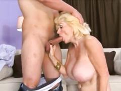 Mature blonde slut sucks lovers dick and gets fucked