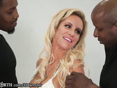 Peter North makes his wife fuck 3 BBC's